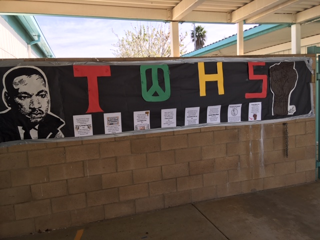 Banner celebrating Black History Month